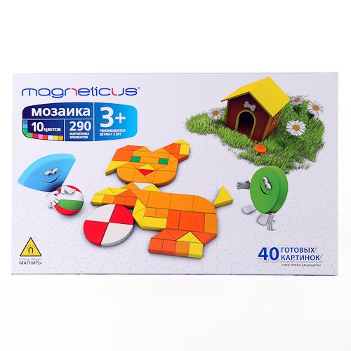 Магнитная мозаика Magneticus 290 элементов купить в интернет-магазине robinzoniya.ru.