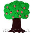 Игры из ковролина Маленькое дерево (учим сезоны)