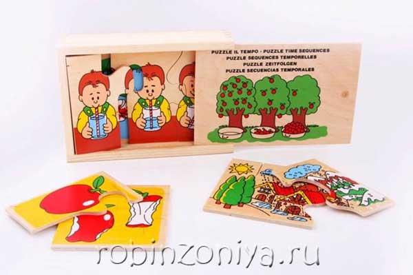Пазл из дерева Временные отношения от ЛЭМ купить с доставкой по России в интернет-магазине robinzoniya.ru.