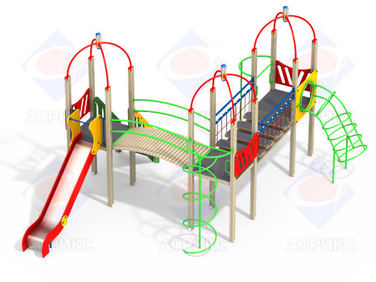 Детский игровой комплекс 3.165 купить в интернет-магазине robinzoniya.ru.