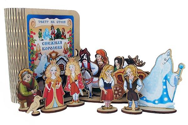 Театр на столе Снежная королева из дерева купить с доставкой по России в интернет-магазине robinzoniya.ru.