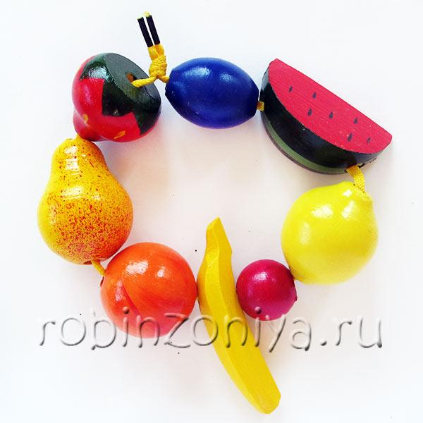 Бусы фрукты шнуровка счетный материал купить в интернет-магазине robinzoniya.ru.
