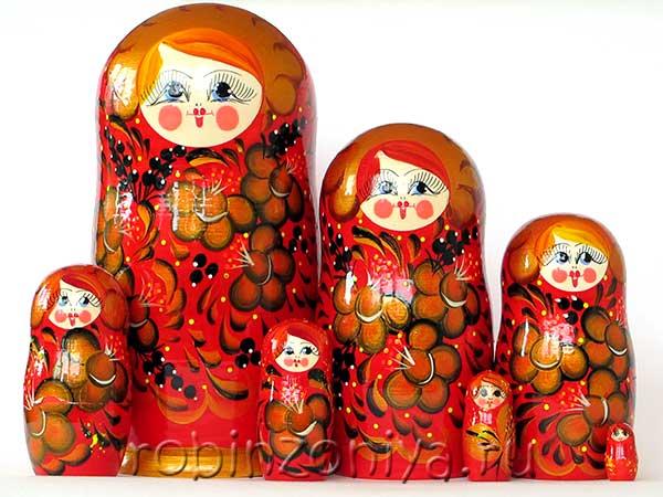Матрешка 7 в 1 расписная купить в интернет-магазине robinzoniya.ru.