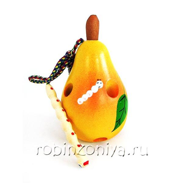 Шнуровка Груша с червячком