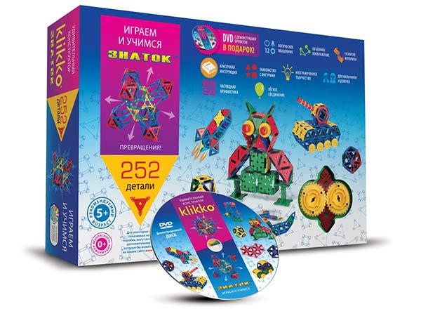 Удивительный конструктор Знаток Кликко 252 детали купить с доставкой по России в интернет-магазине robinzoniya.ru.