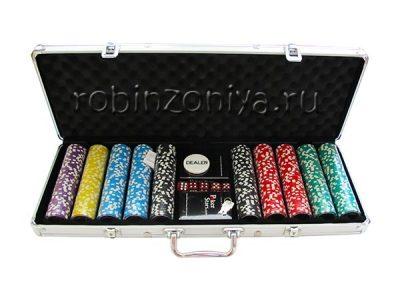 Набор для покера Ultimate на 500 фишек, металлический кейс