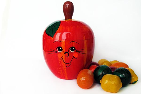 Счётный материал Фрукты в яблоке купить в интернет-магазине robinzoniya.ru.