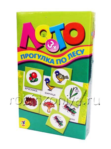 Развивающая игра Лото детское Прогулка по лесу купить с доставкой по России в интернет-магазине robinzoniya.ru.