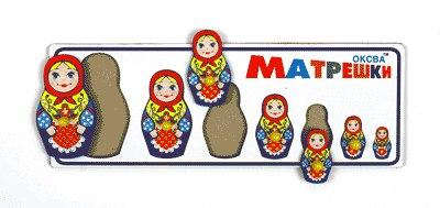 Рамка с вкладышами Матрешки от Оксва купить с доставкой по России в интернет-магазине robinzoniya.ru.