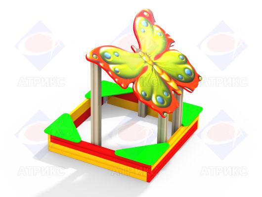 Песочница для двора Бабочка купить в интернет-магазине robinzoniya.ru в Воронеже.