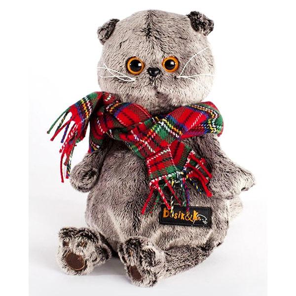Кот Басик в красном шарфе 25 см купить с доставкой по России.