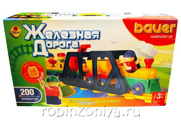 Конструктор Кроха Железная дорога 200 деталей купить с доставкой по России в интернет-магазине robinzoniya.ru.
