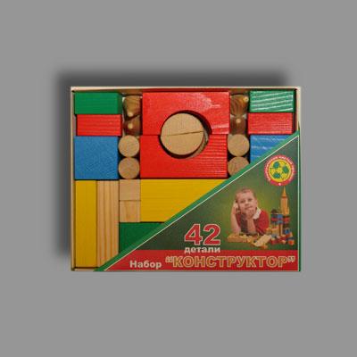 Деревянные кубики Престиж 42 штуки купить в интернет-магазине robinzoniya.ru.