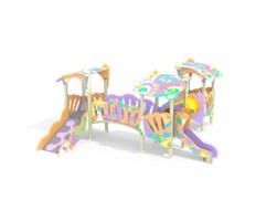 Детский игровой комплекс 3.251 Сказка Гном графити Н=700
