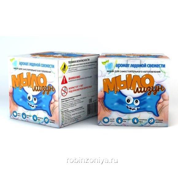 Мыло лизун Ледяная свежесть,Юный химик купить с доставкой по России в интернет-магазине robinzoniya.ru.