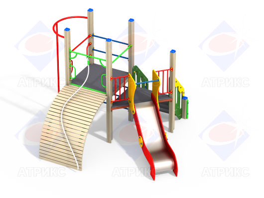 Детский игровой комплекс с горкой и трапом купить в интернет-магазине robinzoniya.ru.