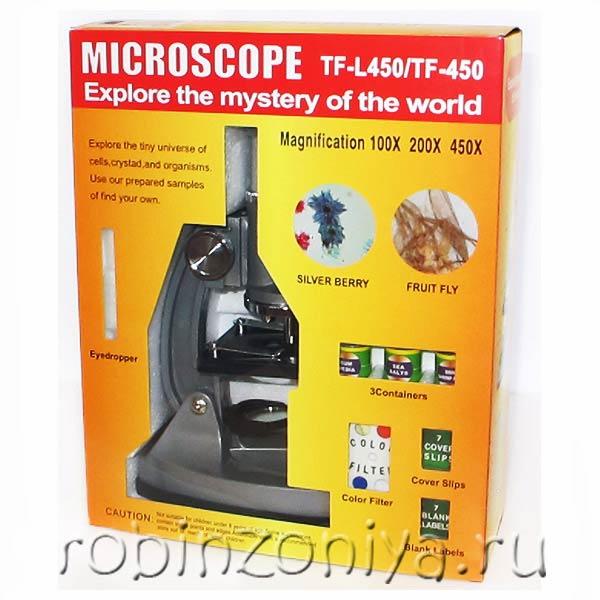 Недорогой детский микроскоп с набором для проведения опытов купить в интернет-магазине robinzoniya.ru.