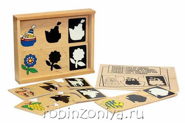 Пазл из дерева Свет и тень от ЛЭМ купить с доставкой по России в интернет-магазине robinzoniya.ru.