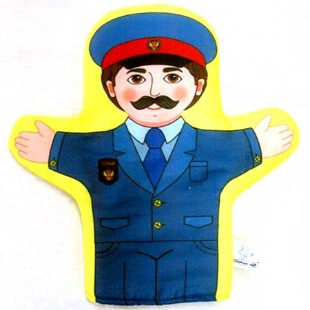 Кукла рукавичка Полицейский купить с доставкой по России в интернет-магазине robinzoniya.ru.