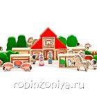 Деревянный конструктор Ферма Томик