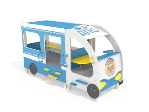 Автобус ДПС МФ 4.026 для детской площадки купить в Воронеже в интернет-магазине robinzoniya.ru.