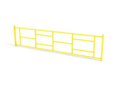 Ограждение металлическое прямое МФ 7.084 2,5 метра