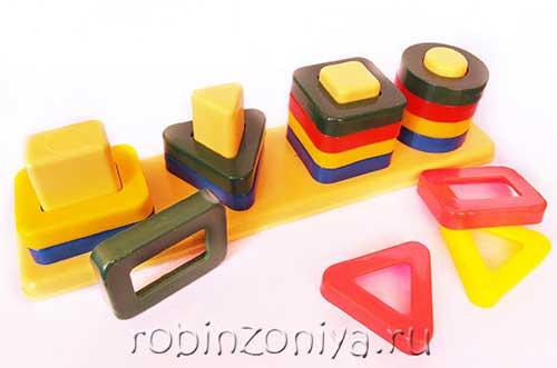 Пирамидка Цветные столбики купить в интернет-магазине robinzoniya.ru.