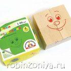 Кубики настроения 4 штуки Краснокамская игрушка