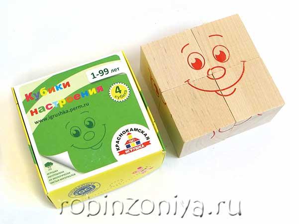 Кубики настроения от Краснокамская игрушка можно купить в интернет-магазине robinzoniya.ru.