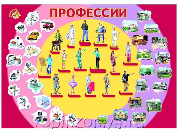 Плакат Профессии купить с доставкой по России в интернет-магазине robinzoniya.ru.