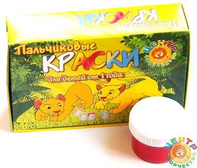Пальчиковые краски 6 цветов купить с доставкой по России в интернет-магазине robinzoniya.ru.