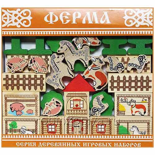 Деревянный конструктор Томик Ферма купить с доставкой по России в интернет-магазине robinzoniya.ru.