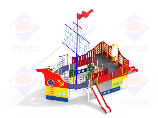 Детский игровой комплекс Корвет 7.05 купить в Воронеже в интернет-магазине robinzoniya.ru.