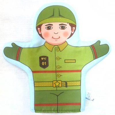 Кукла рукавичка Пожарный (Спасатель)
