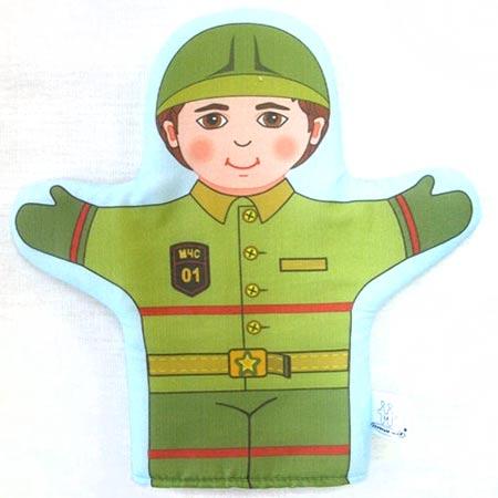 Кукла рукавичка Пожарный (Спасатель) купить с доставкой по России в интернет-магазине robinzoniya.ru.