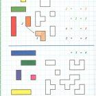 Математические прописи Загадки в клеточку с вариантами