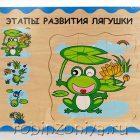 Лягушонок многослойный пазл,Мир деревянной игрушки