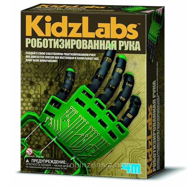 Конструктор 4M Роботизированная рука купить с доставкой по России в интернет-магазине Робинзония.