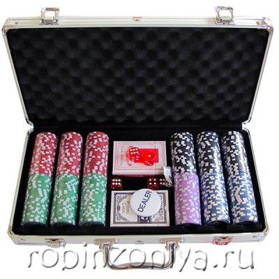 Набор для покера Nuts, 300 фишек, металлический кейс
