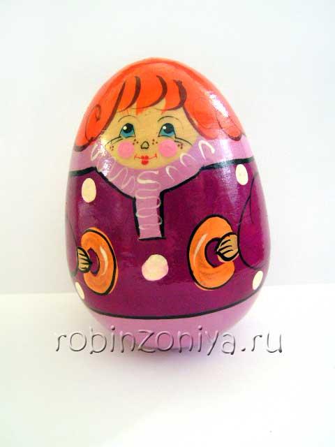 Деревянная неваляшка для детей Мальчик купить в интернет-магазине robinzoniya.ru.