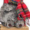 Кот Басик в красном шарфе 25 см