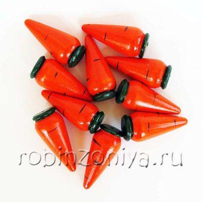 Счетный материал овощи морковка/помидор/огурец 10 штук