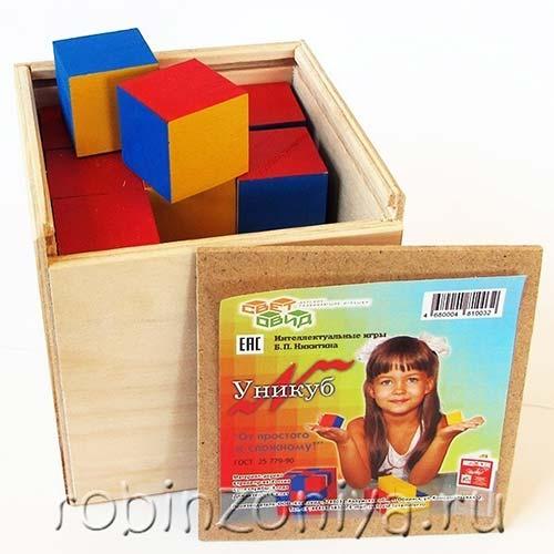 Уникуб в фанерной коробке купить в интернет-магазине robinzoniya.ru.
