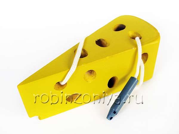 Шнуровка деревянная Сыр купить в интернет-магазине robinzoniya.ru.