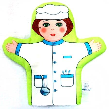 Кукла рукавичка Повар купить с доставкой по России в интернет-магазине robinzoniya.ru.