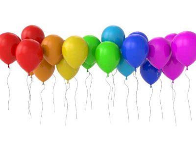 Воздушные шары Радужное ассорти 23 см