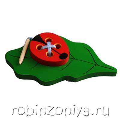 Шнуровка Жучок на листике купить можно в интернет-магазине robinzoniya.ru.