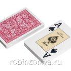 Пластиковые карты для покера Fournier Red, 100% пластик, увеличенный индекс