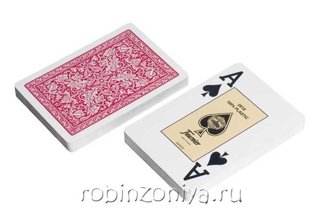 Пластиковые карты для покера Fournier Red купить в Воронеже в интернет-магазине robinzoniya.ru.