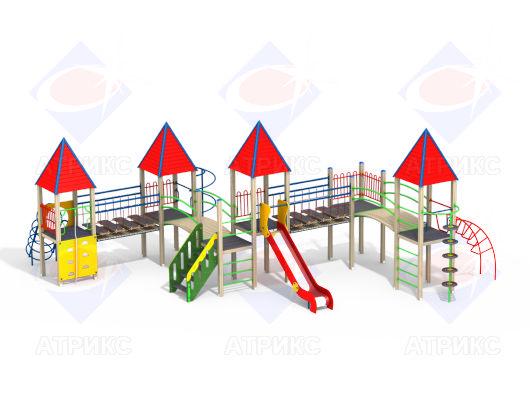 Детский игровой комплекс 4.16 купить в Воронеже в интернет-магазине robinzoniya.ru.